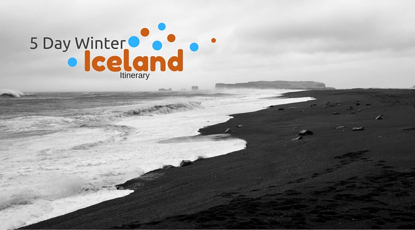 Lack Sand Beach In Iceland