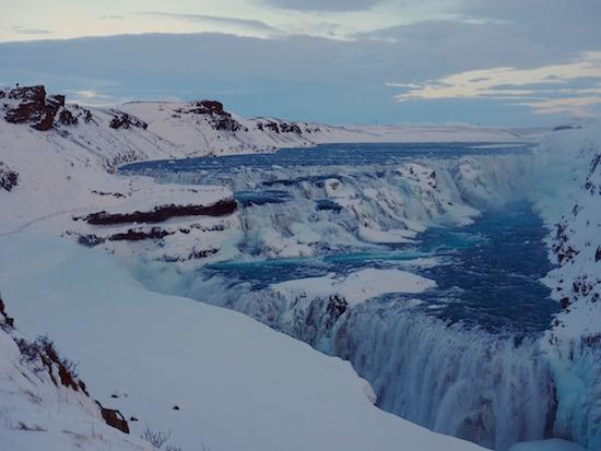 Gulfoss Iceland Winter Wandering Chocobo